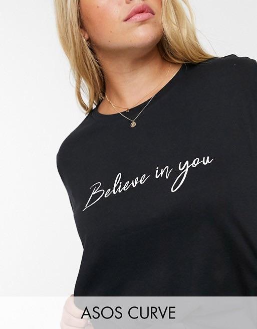 Croire en soi - T-shirt grande taille à slogan