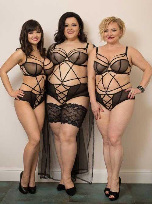 Femmes de différentes morphologies posant en lingerie ultra sexy