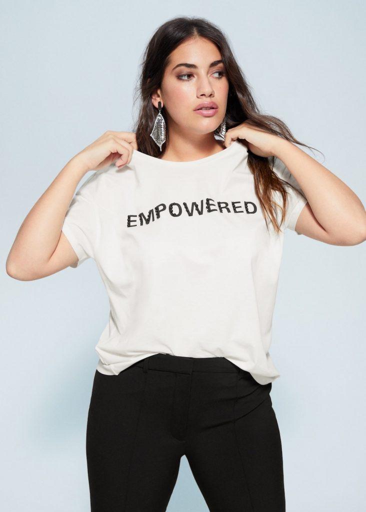 Capable, en pouvoir - T-shirt grande taille à message