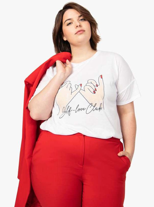 Self love club - t-shirt grande taille à idée