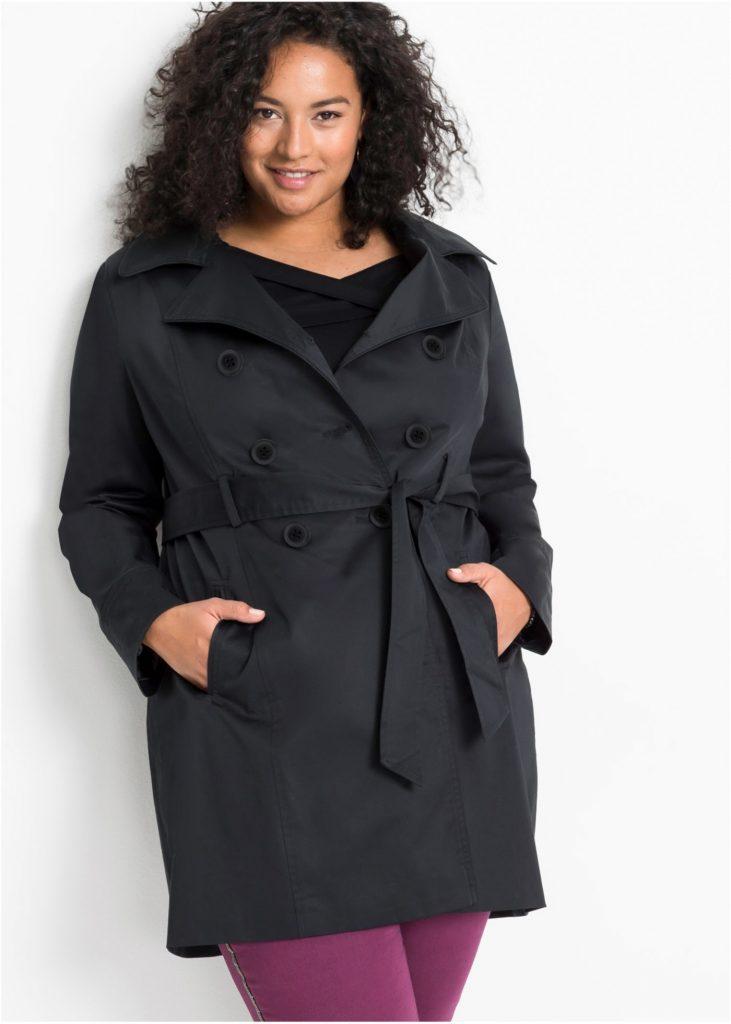 Trench coat grande taille noir