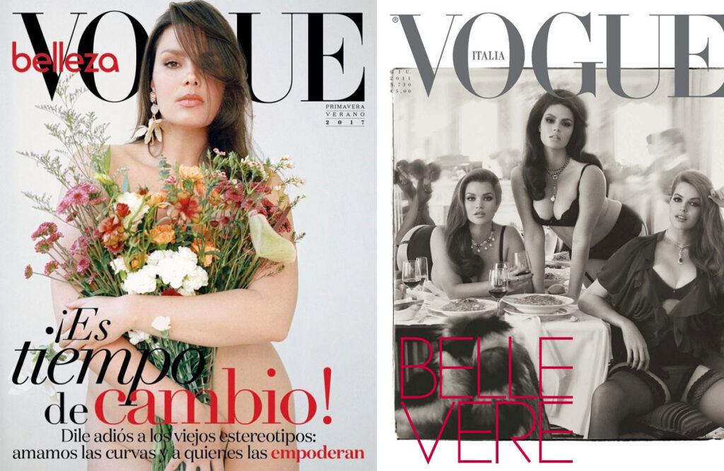 Candice Huffine en couverture de Vogue