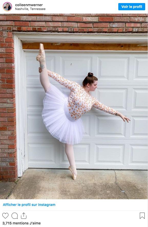 Colleen Werner  est une danseuse ronde qui fait des pointes