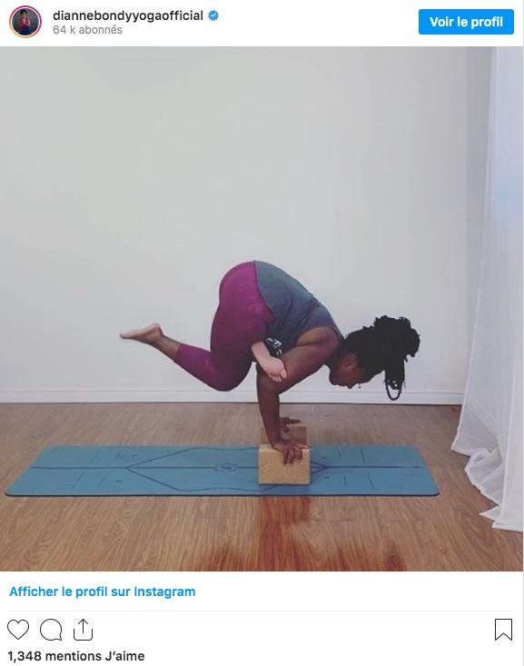 Diane Bondy aussi est ronde et professeur de Yoga