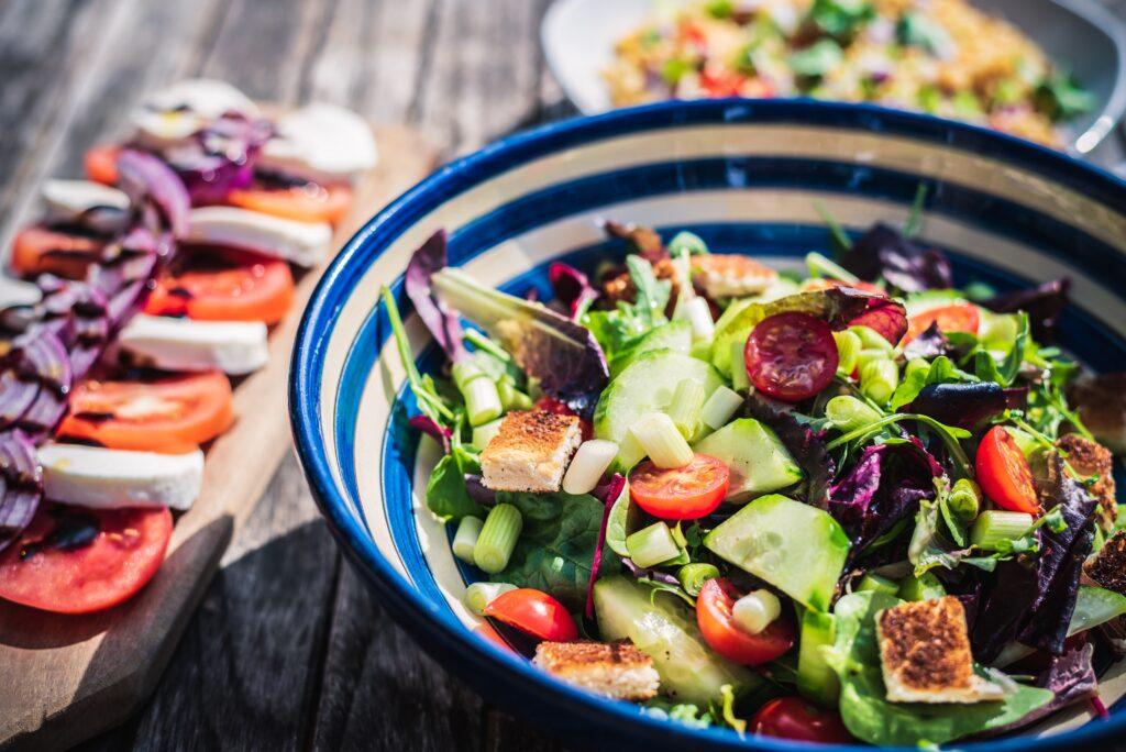 Salade fraîche pour temps chauds